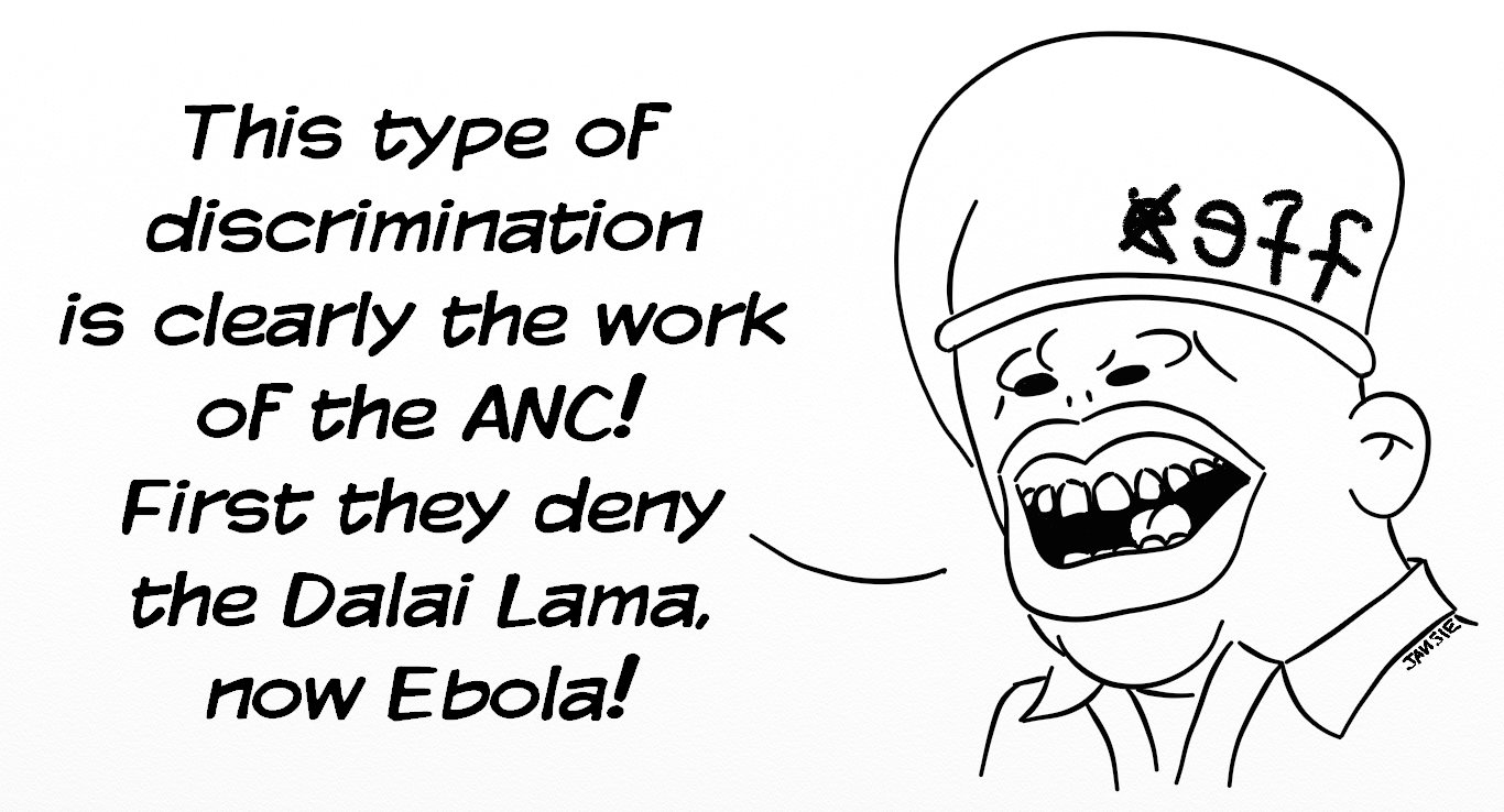 Leader of a South African political party voices his opinion about Ebola not affecting South Africa.